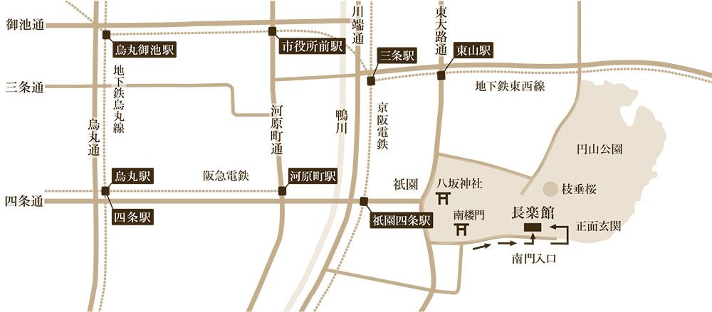 長楽館 アクセスマップ